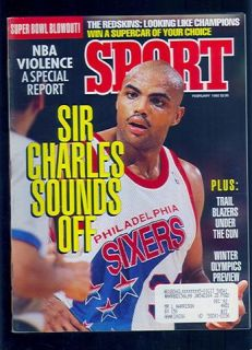 Magazine February Sir Charles Barkley Sounds Off EX SKU 31546