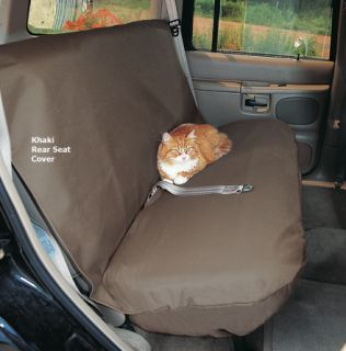 Car Seat Cover Khaki for 48 Rear Seat Pet Seat Cover 5723