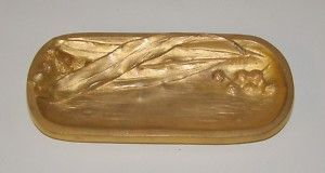 Antique Gilt Dore Bronze French Tray Signed C Charles