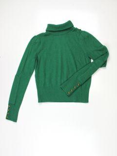 Diane Von Furstenberg Womens Chace Kelly Green Cashmere Sweater s $348