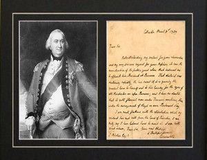General Lord Charles Cornwallis Rev War Signed Letter