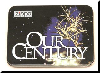 Zippo Our Century Collectible 1999 New Original Tin