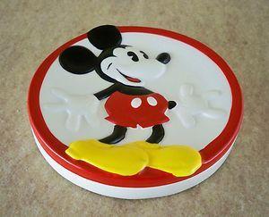 MICKEY MOUSE SOAP DISH ~ Glazed Ceramic Bathroom Kitchen Decor