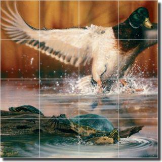 Duck Lake Bird Decor Art Ceramic Tile Mural Backsplash