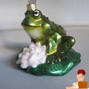 New Authentic Olivia Riegel Swarovski Crystal Hand Painted Glass Frog