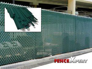 Bottom Locking PVC Chain Link Fence Slats Premium Fence Cover