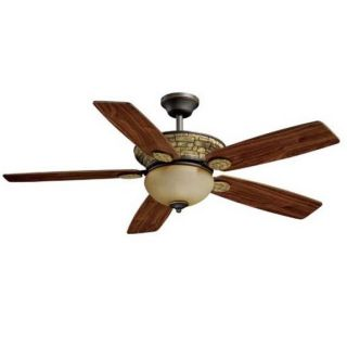 NEW 52 inch Rustic Outdoor Ceiling Fan with Light Kit, Oil Rub Bronze