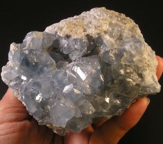 Blue Celestite Celestine Crystal Druzy Geode Specimen 9 5cm 584gm