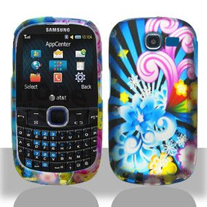 For Samsung A187 Cell Phone Neon Floral Texture Accessory Hard Case