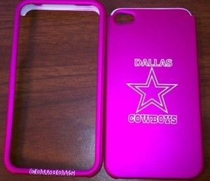 iPhone 4 4S Dallas Cowboys Hot Pink Cell Phone Case Faceplate