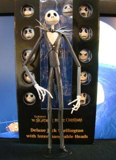 Nightmare Action Figure Deluze Jack Skellington Interchangeable 12