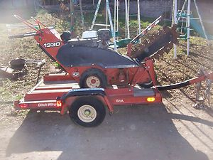 Ditch Witch 1330H Trencher 13 HP Honda with Ditch Witch S1A Trailer