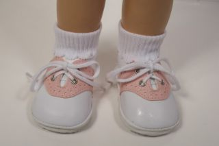 Lt Pink Saddle Oxford Doll Shoes for Chatty Cathy♥