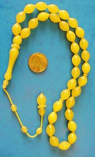Islamic Prayer Beads Turkish Misketa Amber by Tesbihci