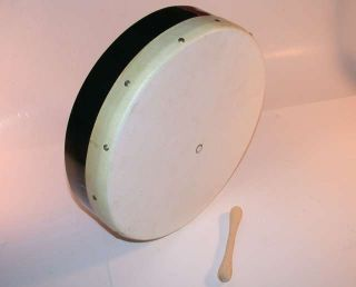 Trophy Bodhran Drum 18 Irish Celtic Animal Skin Head Cross Braced