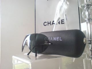 CHANEL Ladies Designer Aviator Sunglasses With Case & Bag