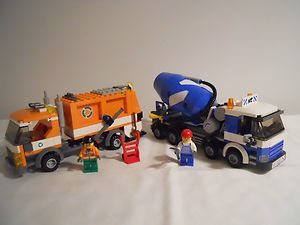Lego City Garbage Truck 7991 Cement Mixer Truck 7990