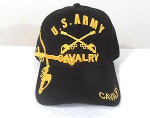 Cap Army Cavalry Hat Black