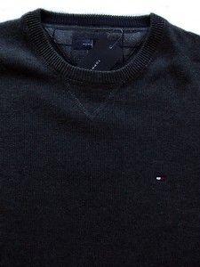 Tommy Hilfiger Mens Gray Crew Neck Sweater Sz M L XL XXL