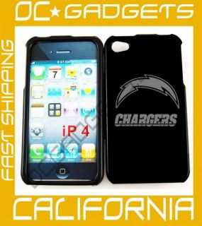 San Diego Chargers Black Cover Case iPhone 4 4G Unlock