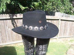 Charlie 1 Horse Western Cowboy Hat Sz 7 1 4 Black
