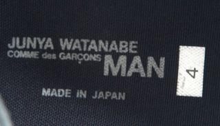 comme des garcons junya watanabe black shoes size uk 9 5 us 10 5