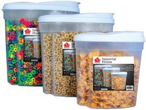 Piece Cereal Dispenser Set Dry Food Storage Containers