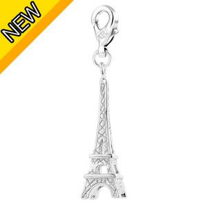 Eiffel Tower Shape 18K White Gold Plated GP Plain Color Charms