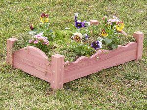 Raised Planter Cedar Flower Bed Enabling Garden Elevated Gardening