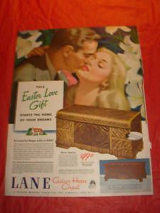 1946 Lane Cedar Hope Chest Ad Easter Love Gift