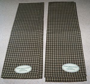 Park Designs Home Sweet Home Dish Towel Green Check NWT