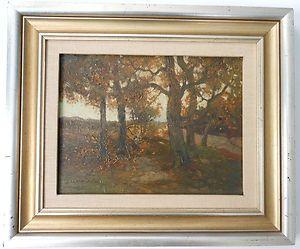 Charles P Gruppe Original Oil Landscape Painting Signed