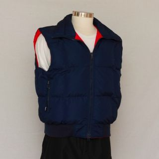 womens fall/winter warm goose down insulated reversible vest. XL