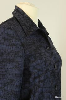 BRIGGS Sz MP Dark Blue Coat with Snake Skin Print Fully Lined NR