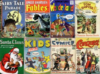 Age CHILDREN STORYBOOKS COMICS in DVD Fairy Tales Fables DELL 4C Ziff