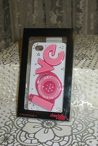 PRETTY Rhinestone Pink Love IPhone 4 Cell Phone Case Cover US Seller