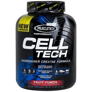 MuscleTech Cell Tech New Performance Series Hardgainer Creatine 6 Lbs