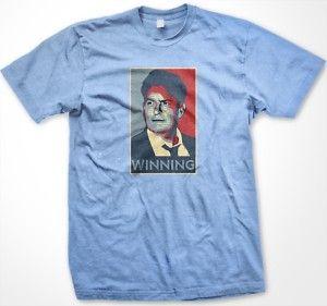 Charlie Sheen Winning Mens T Shirt Funny Obama Hope