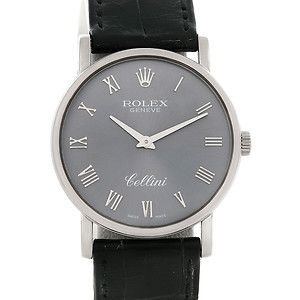 Rolex Cellini Classic Mens 18K White Gold 5115 Watch