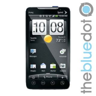 HTC EVO 4G Sprint Cell Phone Black No Contract Refurbished