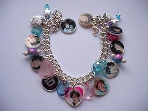 Styles ONE DIRECTION 1D Photo charm bracelet new teen birthday gift