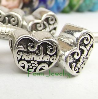 Bead Love Grandma Grand Mother Charm Fit European Bracelet C179