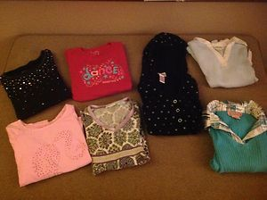 Girls long sleeve tops size 6 JUSTICE BARBIE more