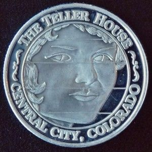 TELLER HOUSE FACE ON THE BARROOM FLOOR CASINO TOKEN   CENTRAL CITY