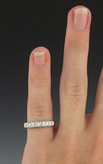 Brilliant Diamond Anniversary Band 14k White Gold Ring