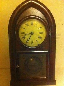 Chauncey Boardman Double Fusee Rosewood Veneer Beehive Shelf Clock pre