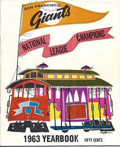 Giants Yearbook National League Champions Mays McCovey Cepeda