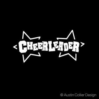 Cheerleader Vinyl Decal Car Truck Sticker Cheer Squad