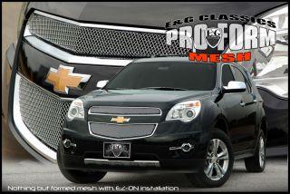 2010 11 Chevrolet Equinox Chrome Pro Form Mesh Grille