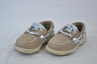 Sperry Top Sider Bluefish Greige Leopard Print Leather Girls Boat